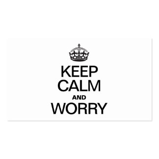 KEEP CALM AND WORRY BUSINESS CARD TEMPLATES