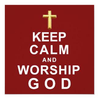 Keep Calm and Worship God Invitation