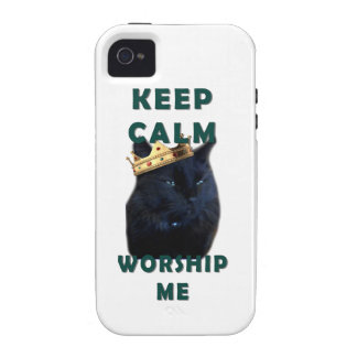 Keep Calm and Worship Me Case-Mate iPhone 4 Cover