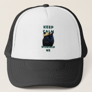 Keep Calm and Worship Me Trucker Hat