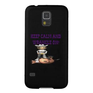 Keep Calm And Wrangle On 2 Galaxy S5 Covers