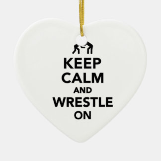 Keep calm and wrestle on Wrestling Christmas Ornaments