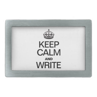 KEEP CALM AND WRITE BELT BUCKLE