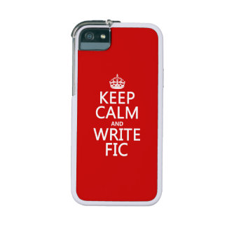 Keep Calm and Write Fic - all colors Case For iPhone SE/5/5s