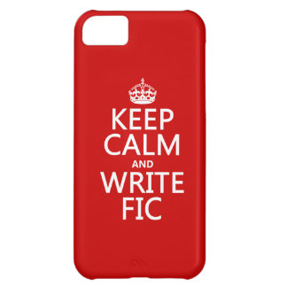 Keep Calm and Write Fic - all colors iPhone 5C Cover