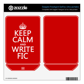 Keep Calm and Write Fic - all colors FreeAgent GoFlex Decals