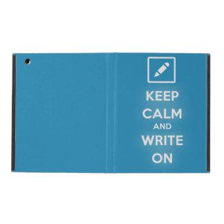 Keep Calm and Write On iPad 2,3,4 Case iPad Folio Case