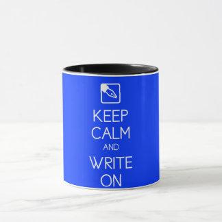 Keep Calm and Write On Mug