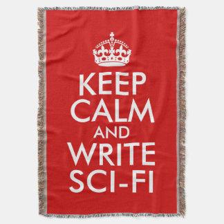 Keep Calm and Write Sci-Fi Throw Blanket