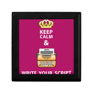 Keep Calm and Write Your Script vector Jewelry Box