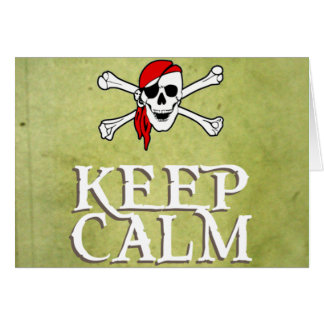 KEEP CALM and YO HO HO in green Card