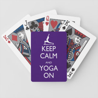 Keep Calm and Yoga On Bicycle Playing Cards