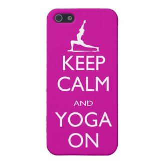 Keep Calm and Yoga On iphone case