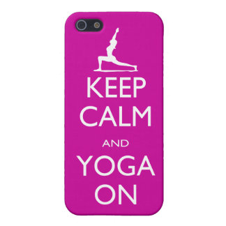 Keep Calm and Yoga On Case For iPhone SE/5/5s