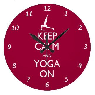 Keep Calm and Yoga On Wall Clock