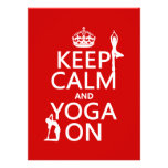 Keep Calm and Yoga On (customize colors) Announcement