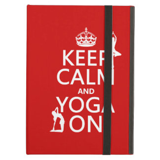 Keep Calm and Yoga On (customize colors) iPad Air Cover