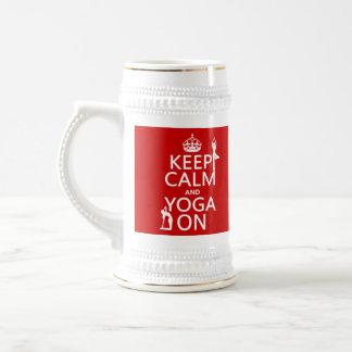 Keep Calm and Yoga On (customize colors) Mugs