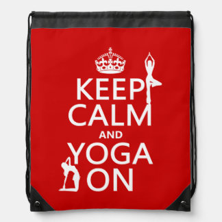 Keep Calm and Yoga On (customize colors) Backpacks
