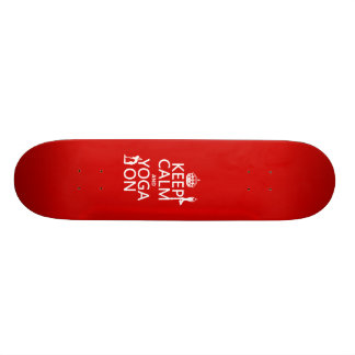 Keep Calm and Yoga On (customize colors) Skateboard Deck