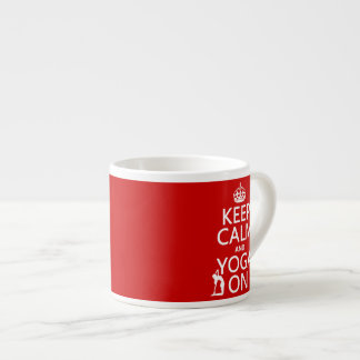 Keep Calm and Yoga On customize colors Espresso Cups