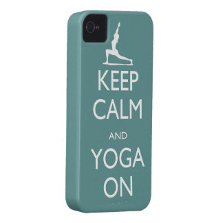 Keep Calm and Yoga On iPhone 4 Case