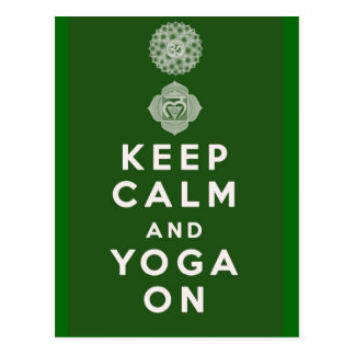 Keep Calm and Yoga On Postcard