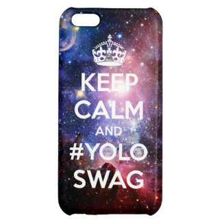 Keep calm and #yolo swag iPhone 5C cases