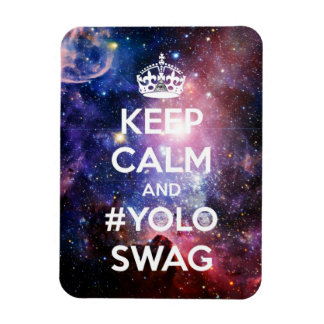 Keep calm and #yolo swag magnet