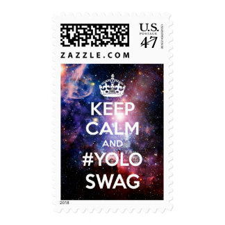 Keep calm and #yolo swag postage