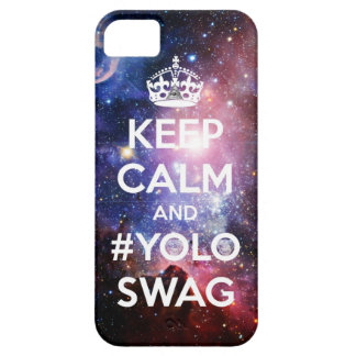 Keep calm and #yoloswag iPhone SE/5/5s case