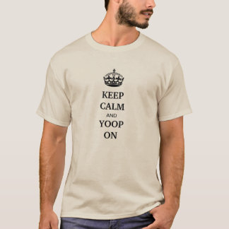 """""""Keep calm and yoop on"""" sand colored UP tshirt"""