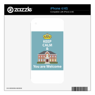 Keep Calm and You are Welcome vector Decal For The iPhone 4S