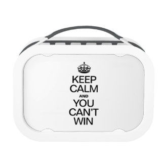 KEEP CALM AND YOU CAN'T WIN REPLACEMENT PLATE