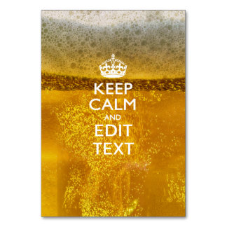 Keep Calm And Your Text for some Beer Card