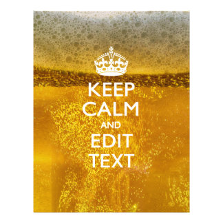 Keep Calm And Your Text for some Beer Flyer