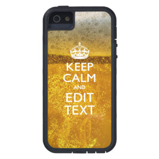 Keep Calm And Your Text for some Beer iPhone SE/5/5s Case