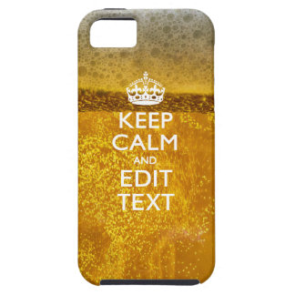 Keep Calm And Your Text for some Cold Beer iPhone SE/5/5s Case