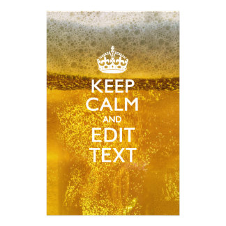 Keep Calm And Your Text for some Cold Beer Stationery