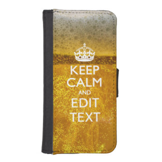 Keep Calm And Your Text for some Cool Beer iPhone SE/5/5s Wallet