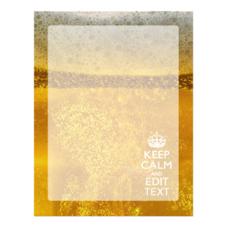 Keep Calm And Your Text for some Great Beer Letterhead