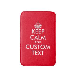 Keep calm and your text non slip bath mat