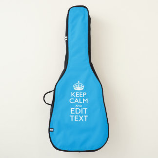 Keep Calm And Your Text on Accent Sky Blue Guitar Case