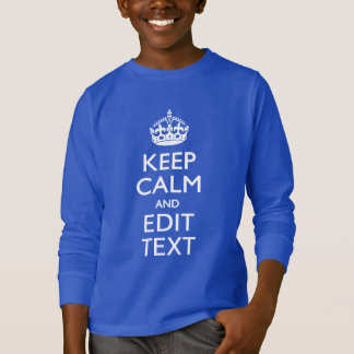 Keep Calm And Your Text on Accent Turquoise T-Shirt