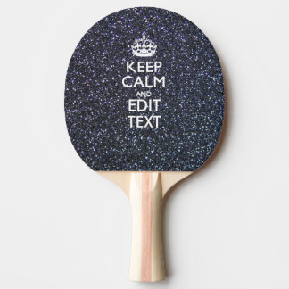 Keep Calm and Your Text on Midnight Decor Ping Pong Paddle
