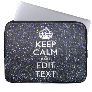 Keep Calm and Your Text on Midnight Style Computer Sleeve