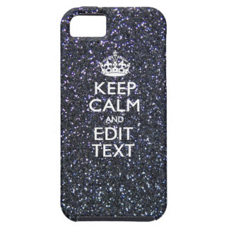 Keep Calm and Your Text on Midnight Style iPhone SE/5/5s Case