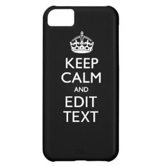 KEEP CALM AND Your Text on Solid Black iPhone 5C Cases
