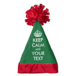KEEP CALM and YOUR TEXT - template Santa Hat