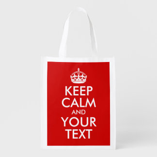 Keep Calm and Your Text Market Totes